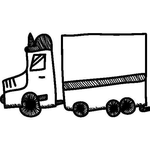 transport par camion  Icône gratuit