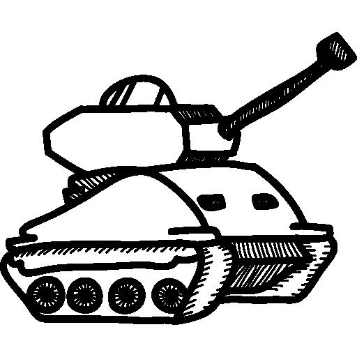 tanque de guerra  grátis ícone