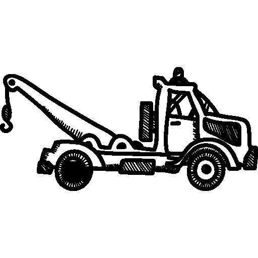 transport par grue  Icône gratuit