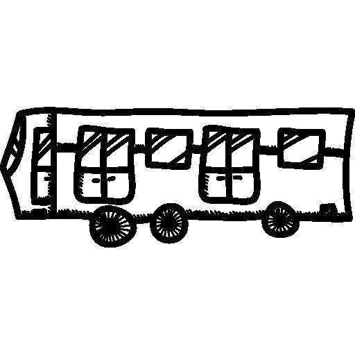 transport collectif en bus  Icône gratuit