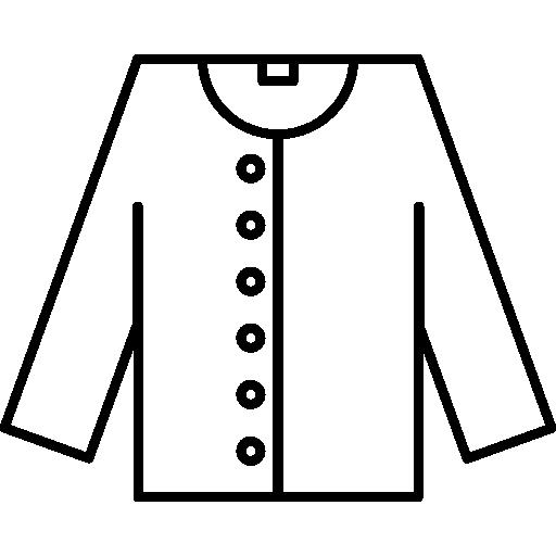 contorno da jaqueta  grátis ícone