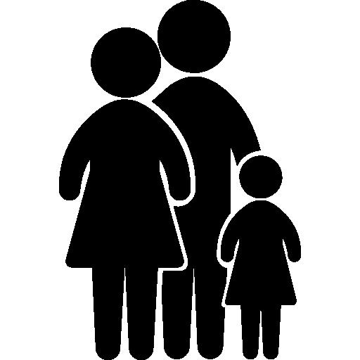 Family group of three  free icon