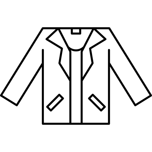 contorno de jaqueta masculina  grátis ícone