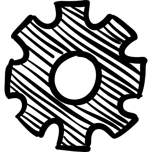 톱니 바퀴 손으로 그린 도구  무료 아이콘