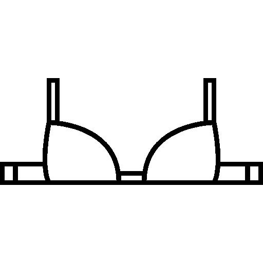 contorno de sutiã  grátis ícone