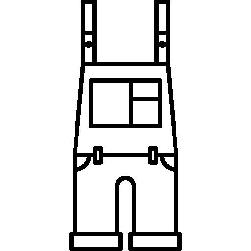 contorno de macacão  grátis ícone