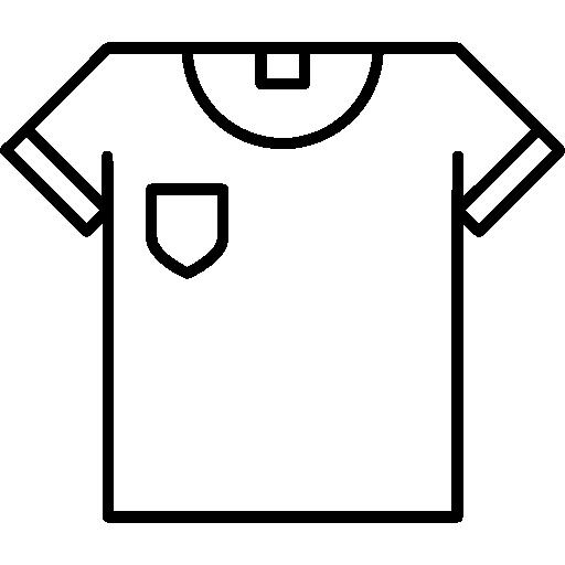 contorno da camiseta  grátis ícone