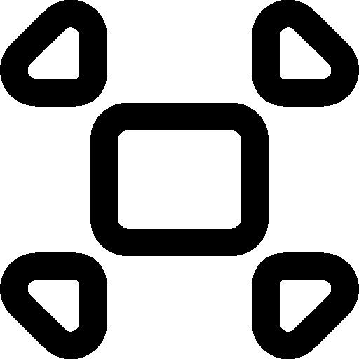 Collapse window button  free icon