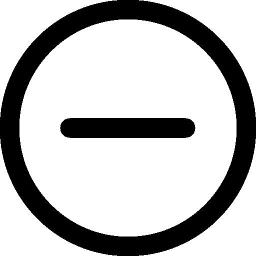 contour du bouton circulaire moins  Icône gratuit
