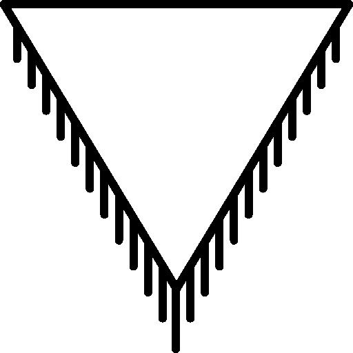 jóia de formato triangular  grátis ícone