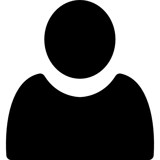 User filled person shape  free icon