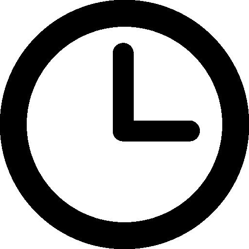 reloj contorno circular  icono gratis