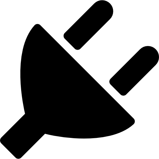 Plug silhouette  free icon