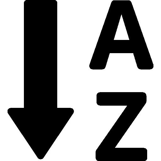 orden alfabetico  icono gratis