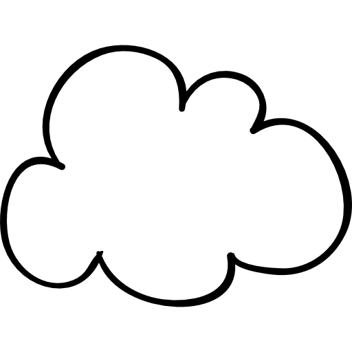 Cloud sketched shape  free icon