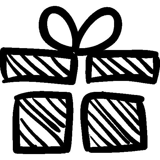 Birthday giftbox sketch  free icon
