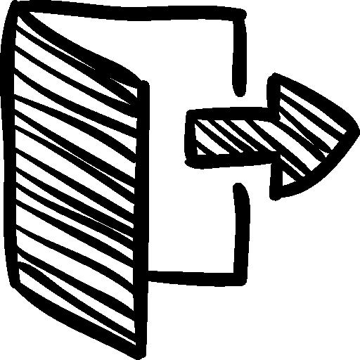 Logout sketch  free icon