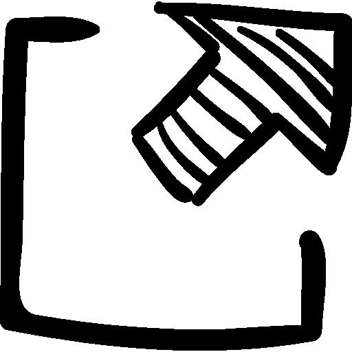 Logout button sketch  free icon