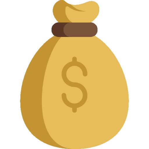 sac d'argent  Icône gratuit
