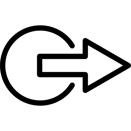 Logout outline  free icon