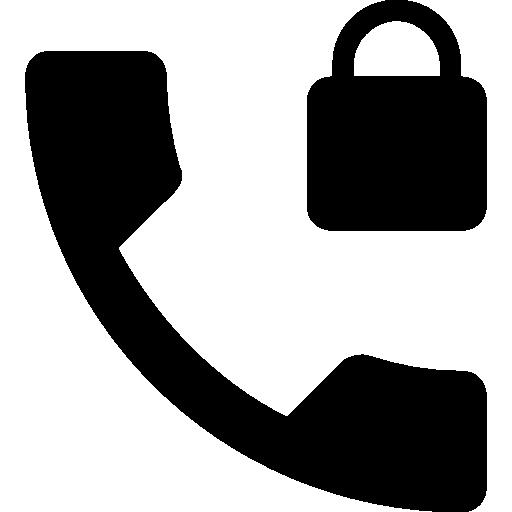Phone locked  free icon