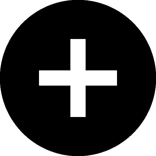 adicionar botão dentro do círculo preto  grátis ícone