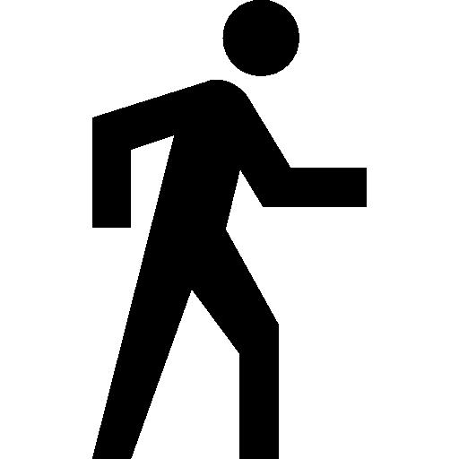 botón de direcciones de hombre caminando  icono gratis