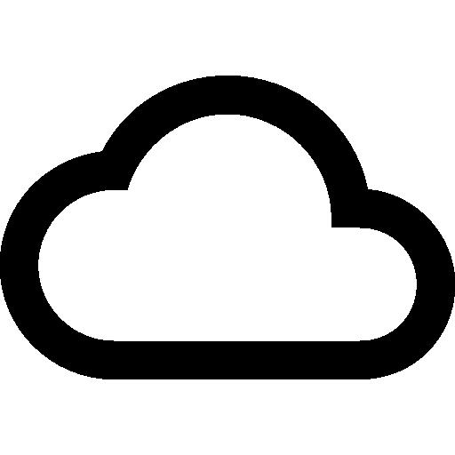 contour du nuage  Icône gratuit