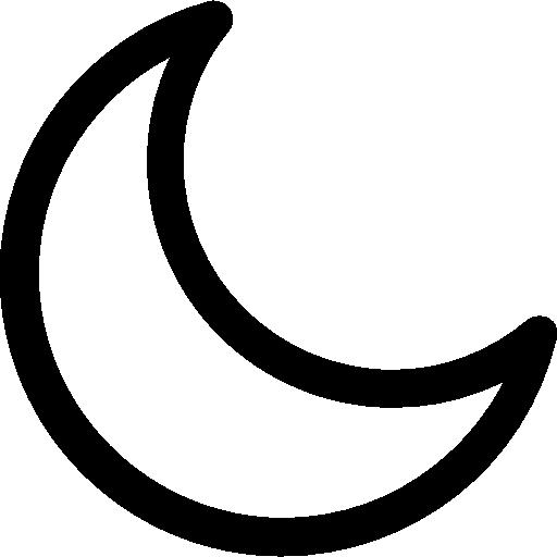luna  icono gratis