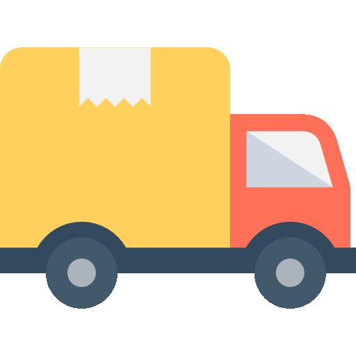 camión de reparto  icono gratis