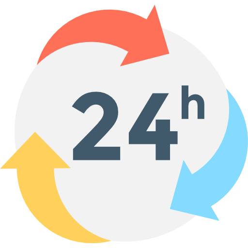 24 hours  free icon