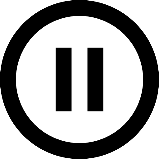 Rounded pause button  free icon