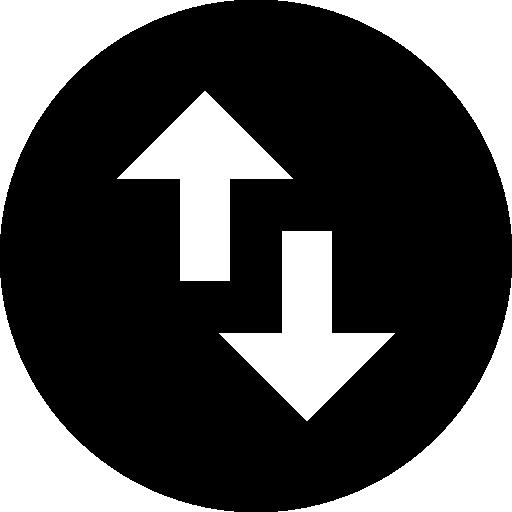 Поменять местами стрелки вертикальной ориентации  бесплатно иконка