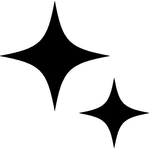 Christmas stars  free icon