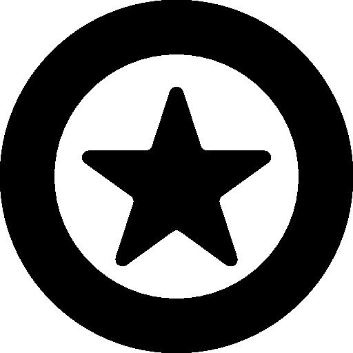 Round favorite button  free icon