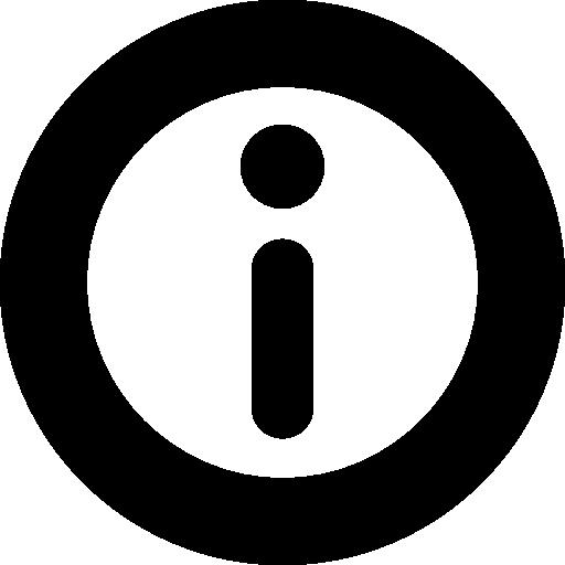 botón redondo de información  icono gratis