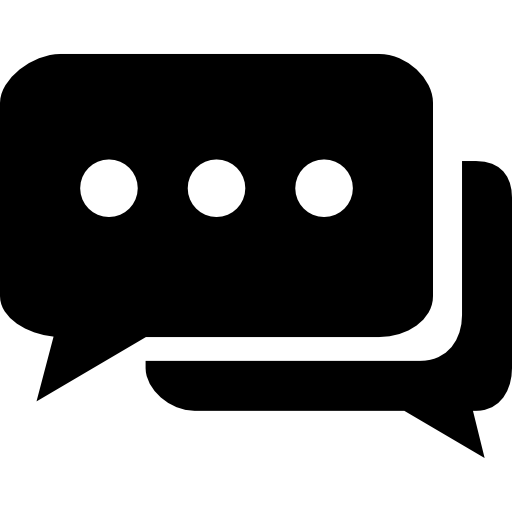 Chat bubbles with ellipsis  free icon