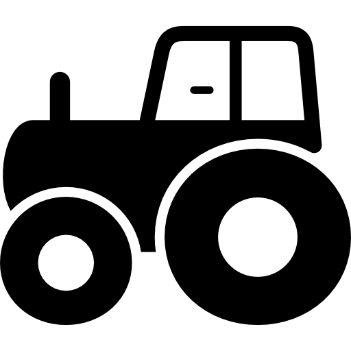 Tractor side view  free icon