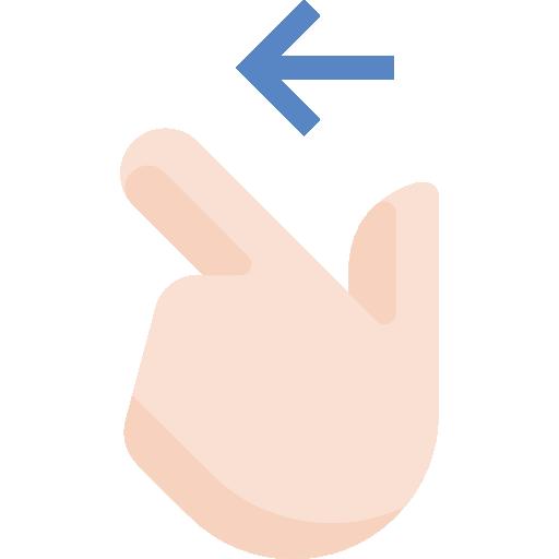 Swipe left  free icon
