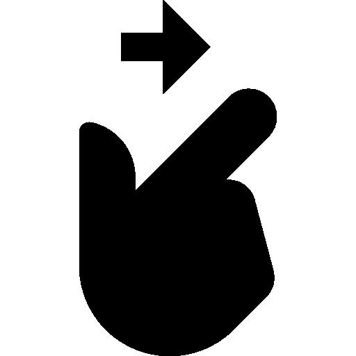 Swipe right  free icon
