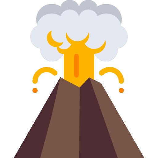 Volcano  free icon