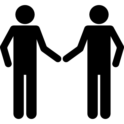 serrer la main silhouette  Icône gratuit
