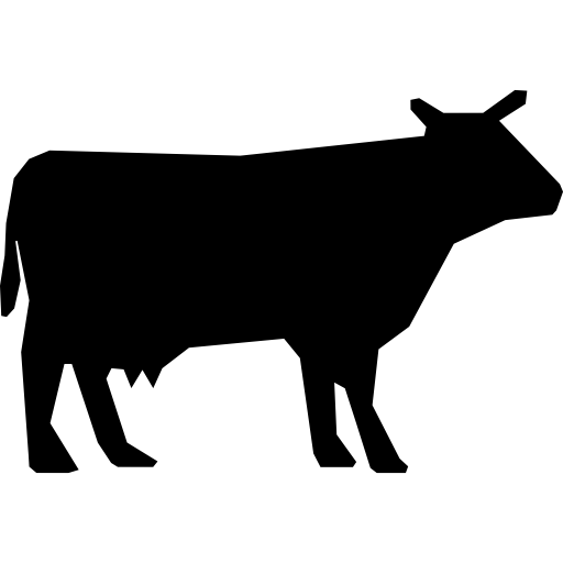 Cow silhouette  free icon