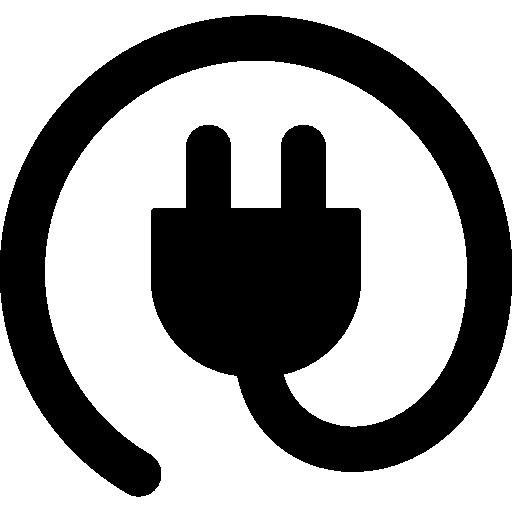 Rounded plug  free icon