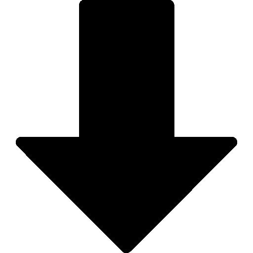 flecha hacia abajo  icono gratis