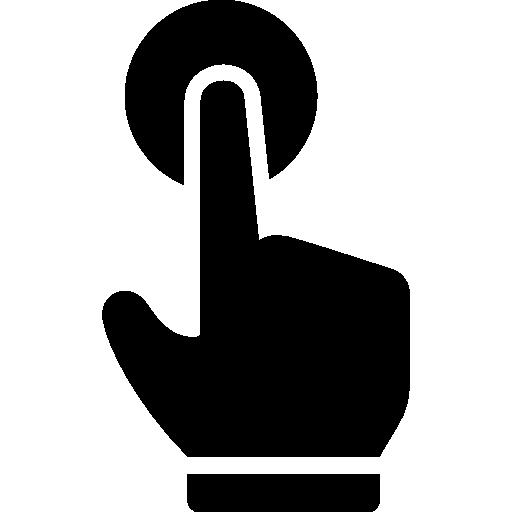 Click gesture  free icon