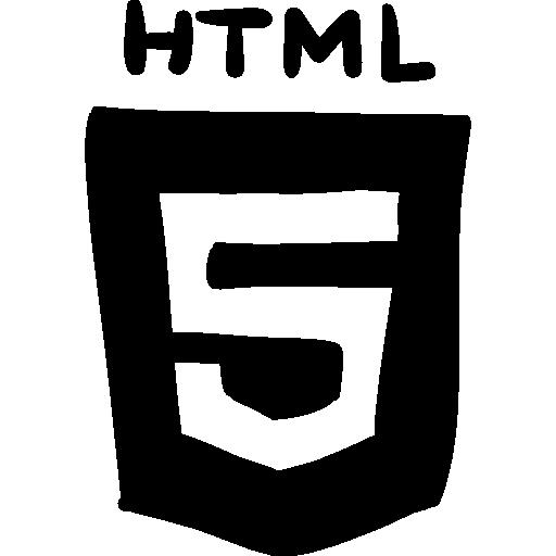 logotipo html 5  icono gratis