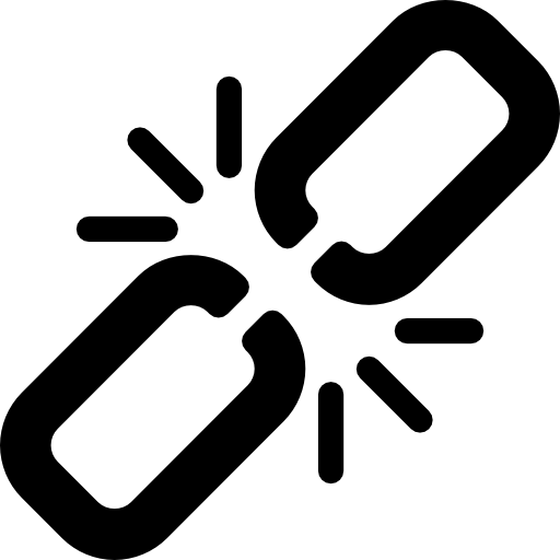 Broken link  free icon