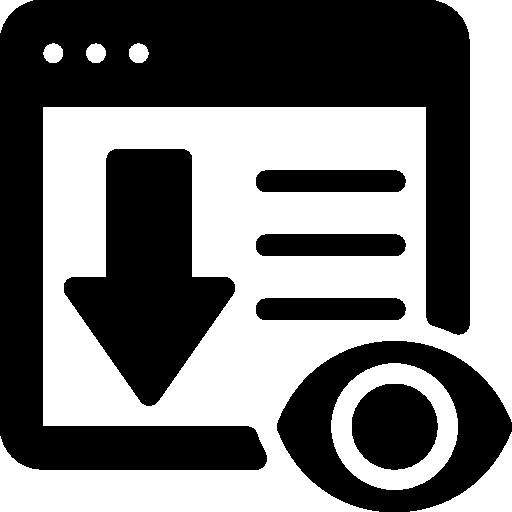 Landing page  free icon