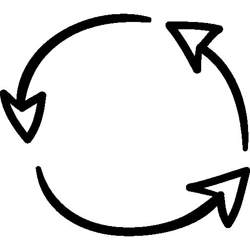 flèches en boucle  Icône gratuit
